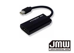 4K/60p対応 MiniDisplayPort→HDMI変換アダプター