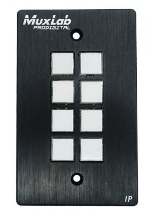 500816-IP MuxLab PoE対応8ボタン コントロールパネル