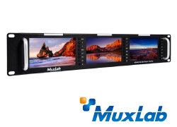 MuxLab 500840  HDMI / 3G-SDIトリプルモニター
