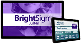 BrightSign内蔵タッチディスプレイ