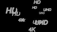 HD、Full HD、およびUHDにも対応