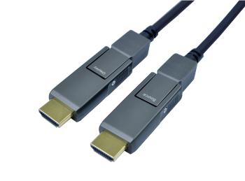 着脱式HDMI光アーマーケーブル(18Gbps伝送対応)