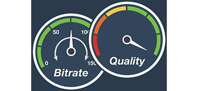 高品質10ビットのH.264エンコーディング